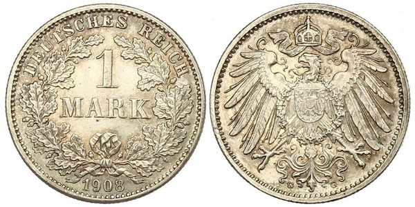 1 Mark German Empire (1871-1918) Silver