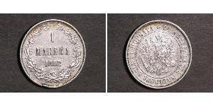 1 Mark Grand Duchy of Finland (1809 - 1917) Silver Nicholas II (1868-1918)