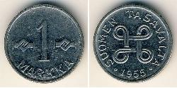 1 Mark Finland (1917 - ) Steel/Nickel