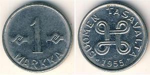 1 Mark Finland (1917 - ) Steel/Nickel