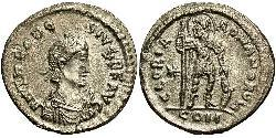 1 Miliarensis 拜占庭帝国 銀 Theodosius II (401-450)