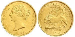 1 Mohur Raj Britannico (1858-1947) Oro Vittoria (1819 - 1901)