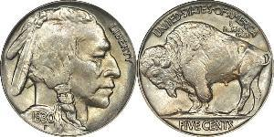 1 Nickel США (1776 - ) Мідь