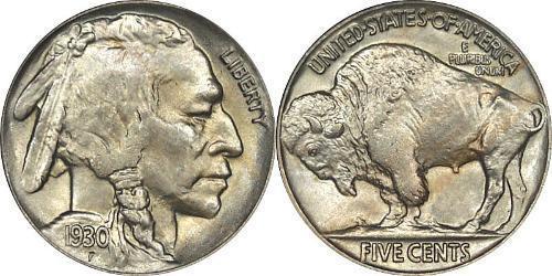 1 Nickel 美利堅合眾國 (1776 - ) 銅