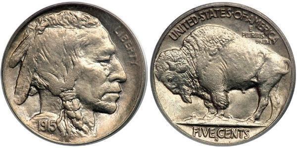 1 Nickel Estados Unidos de América (1776 - ) Cobre