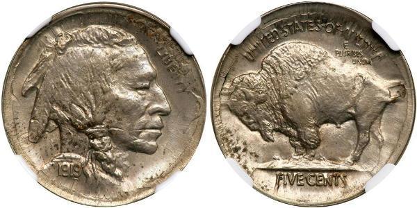 1 Nickel USA (1776 - ) Copper