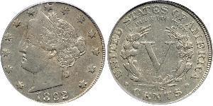 1 Nickel / 5 Цент США (1776 - ) Никель/Медь