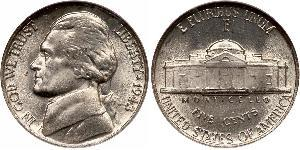 1 Nickel / 5 Cent 美利堅合眾國 (1776 - ) 銅/镍 Thomas Jefferson (1743-1826)