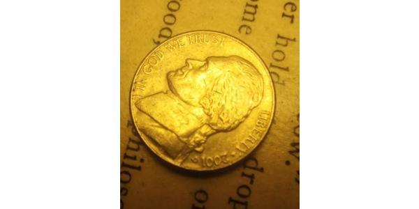 1 Nickel / 5 Cent 美利堅合眾國 (1776 - ) 銅/镍 Thomas Jefferson (1743-1826)