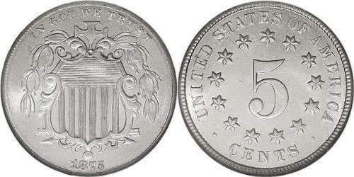 1 Nickel / 5 Cent Estados Unidos de América (1776 - ) Níquel/Cobre