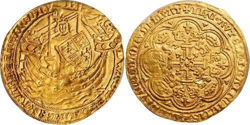 1 Noble Kingdom of England (927-1649,1660-1707) Gold Edward III (1312-1377)