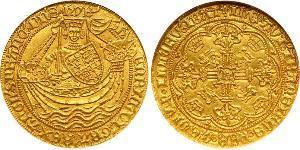 1 Noble Reino de Inglaterra (927-1649,1660-1707) Oro Enrique VI (1421-1471)