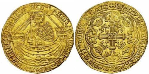 1 Noble Reino de Inglaterra (927-1649,1660-1707) Oro Ricardo II (1367-1400)