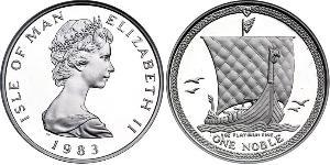 1 Noble Isle of Man Platin Elizabeth II (1926-)