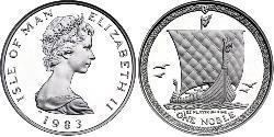 1 Noble Isle of Man Platinum Elizabeth II (1926-)