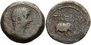 1 Obol Roman Empire (27BC-395) Bronze Tiberius Claudius Nero (42 BC-37)