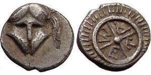 1 Obol Antigua Grecia (1100BC-330) Plata