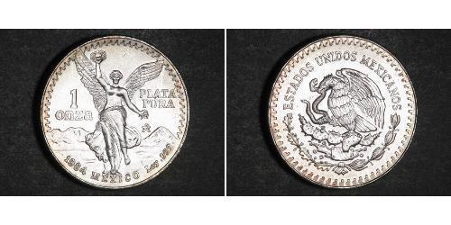 1 Onza Mexiko (1867 - ) Silber