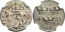 1 Ore Suède Argent Frédéric Ier de Suède (1676 -1751)