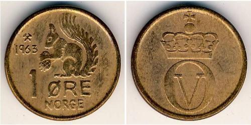 1 Ore Norwegen Bronze
