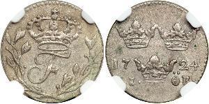 1 Ore Sweden Silver Frederick I of Sweden (1676 -1751)
