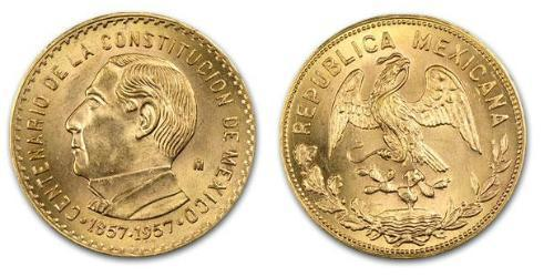 1 Ounce Messico (1867 - ) Oro