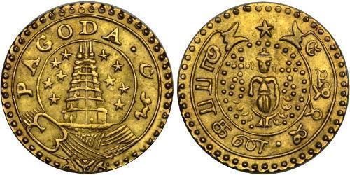 1 Pagoda Британська Ост-Індська компанія (1757-1858) Золото