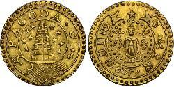 1 Pagoda Britische Ostindien-Kompanie (1757-1858) Gold