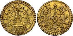 1 Pagoda Compañía Británica de las Indias Orientales (1757-1858) Oro