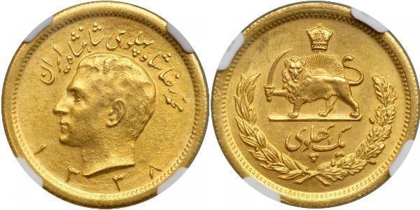 1 Pahlevi Iran Oro Mohammad Reza Pahlavi (1919-1980)