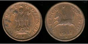 1 Paisa Indien (1950 - ) Kupfer