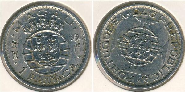 1 Pataca Macao (1862 - 1999) Nichel