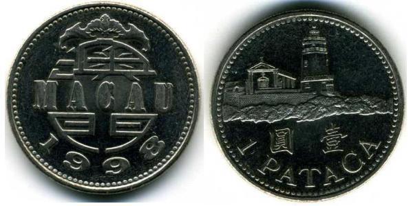 1 Pataca Portogallo / Macao (1862 - 1999) Rame/Nichel