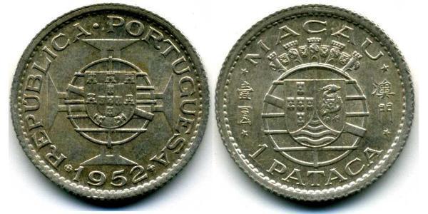 1 Pataca Macau (1862 - 1999) Silver
