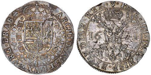1 Patagon Spanish Netherlands (1581 - 1714) Silver Philip IV of Spain (1605 -1665)