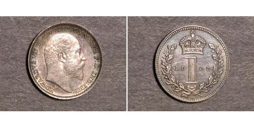 1 Penny 英国 銀 爱德华七世 (1841-1910)