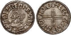 1 Penny 英格兰王国 銀 决策无方者埃塞尔雷德 (1016 - 1013)