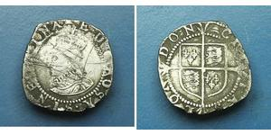 1 Penny 英格兰王国 銀 Elizabeth I (1533-1603)
