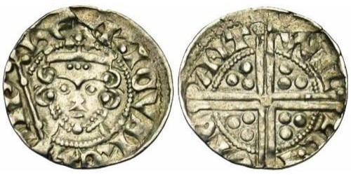 1 Penny 英格兰王国 銀 亨利三世 (英格兰) (1207 - 1272)