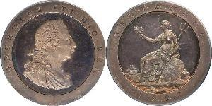 1 Penny 大不列顛王國 (1707 - 1800) 銅 喬治三世 (1738-1820)