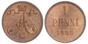 1 Penny 芬兰大公国 (1809 - 1917) 銅 亚历山大三世 (俄国) (1845 -1894)