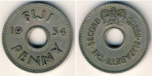 1 Penny Fiji 銅/镍 伊丽莎白二世 (1926-)
