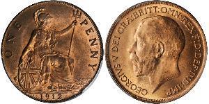 1 Penny 大不列颠及爱尔兰联合王国 (1801 - 1922) 青铜 乔治五世  (1865-1936)