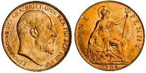 1 Penny 大不列颠及爱尔兰联合王国 (1801 - 1922) 青铜 爱德华七世 (1841-1910)