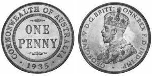 1 Penny 澳大利亚 青铜 乔治五世  (1865-1936)