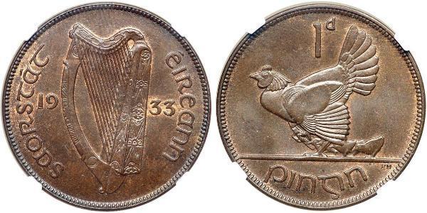 1 Penny 爱尔兰共和国 青铜