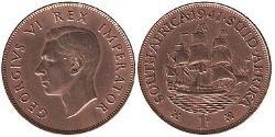 1 Penny South Africa 青铜
