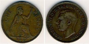 1 Penny United Kingdom (1922-) 青铜 乔治六世 (1895-1952)