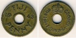 1 Penny Fiji Brass
