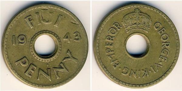 1 Penny Fiji Brass George VI (1895-1952)